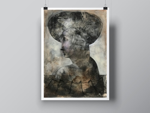 """Immigrant"" Hand Signed Limited Edition Fine Art Print by Angela Alés"