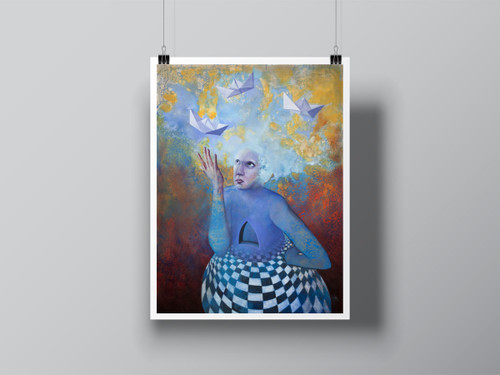 """Manifestation"" Hand Signed Limited Edition Fine Art Print by Angela Alés"