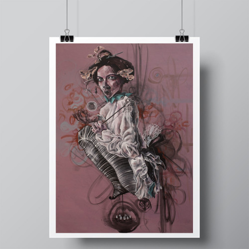 """La Reina Loca (The Crazy Queen)"" Limited-Edition Fine Art Print by Renata Santamarina"