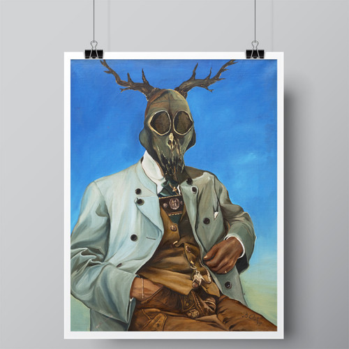 """""""The Hunter Haunted"""", Limited-Edition Hand-Signed Fine Art Print by Beatrix Ost"""