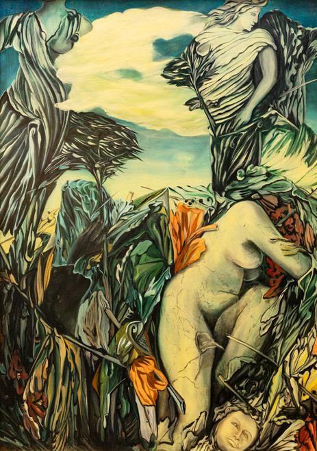 """Paradise Paradox"", Oil on Canvas, 1986, Fine Art Original by Beatrix Ost"