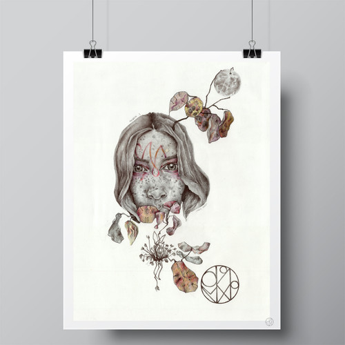"""Lunaria Annua"" Limited-Edition Fine Art Print by Renata Santamarina"