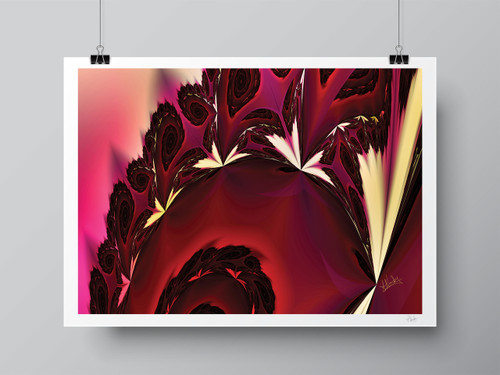 """Butterfly Fractals"" Hand Signed Limited Edition Fine Art Print by Amy Nordby"