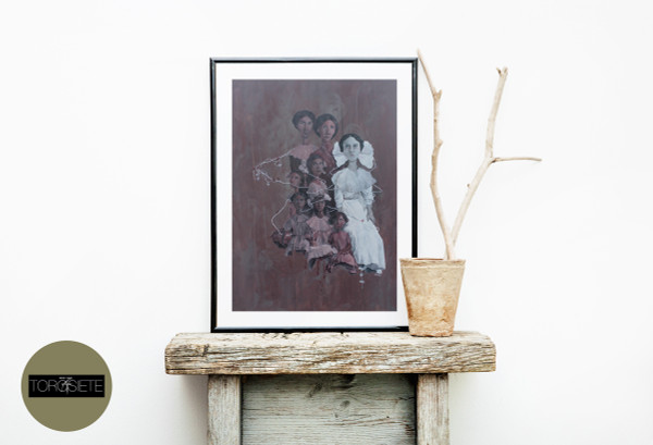 """Blood Flowers"" Limited-Edition Fine Art Print by Renata Santamarina - Shown Framed (Frame NOT Included)"
