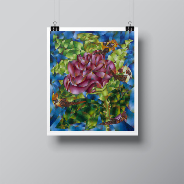 """""""Rosa (Rose)"""" Limited-Edition Signed Print by Benjamín Hierro"""
