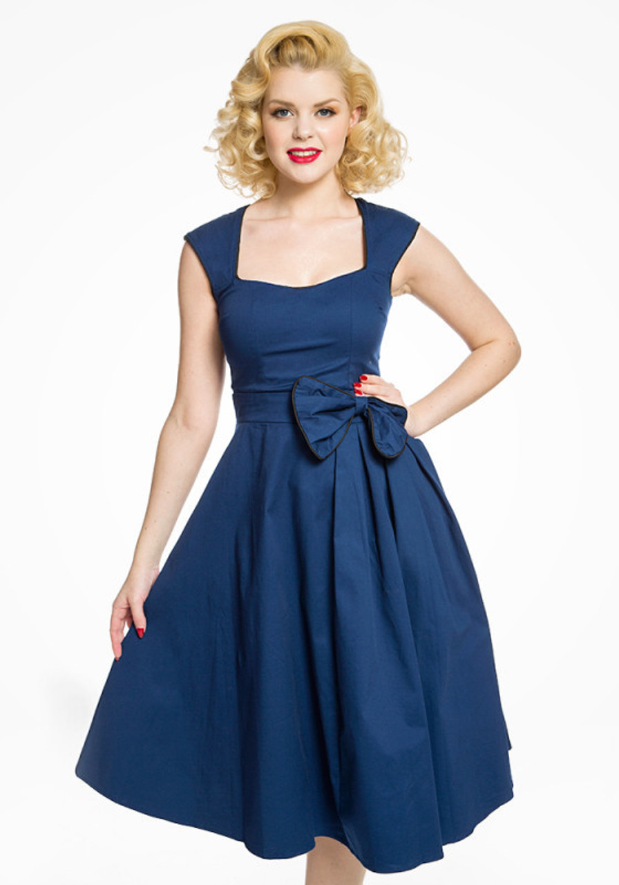 8f62b4100232a Lindy Bop Grace Midnight Blue Party Dress - Suicide Glam Australia