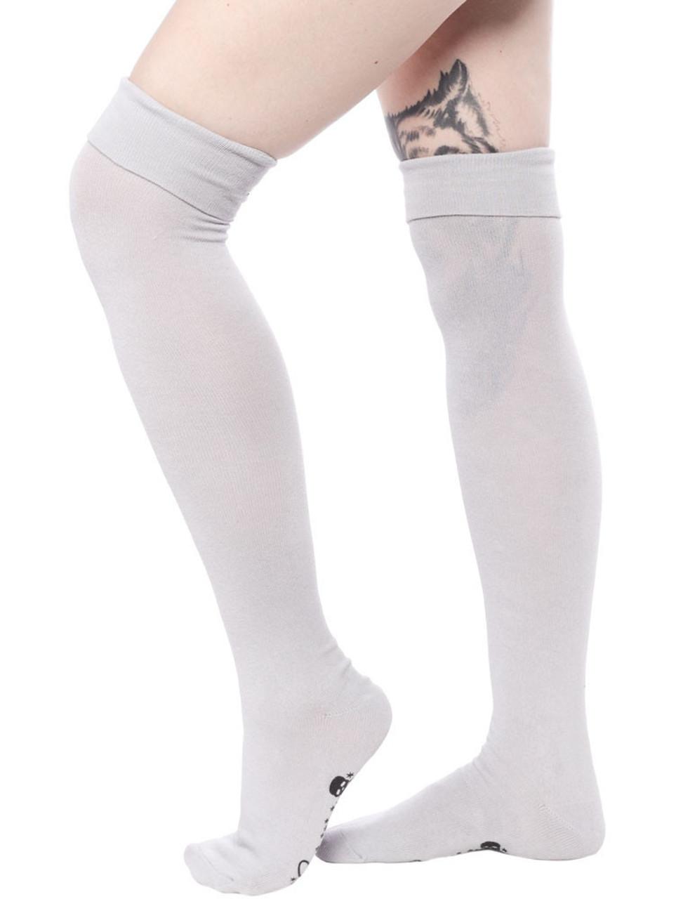 88cfc4e08 Sourpuss Gray Foldover Socks - Suicide Glam Australia