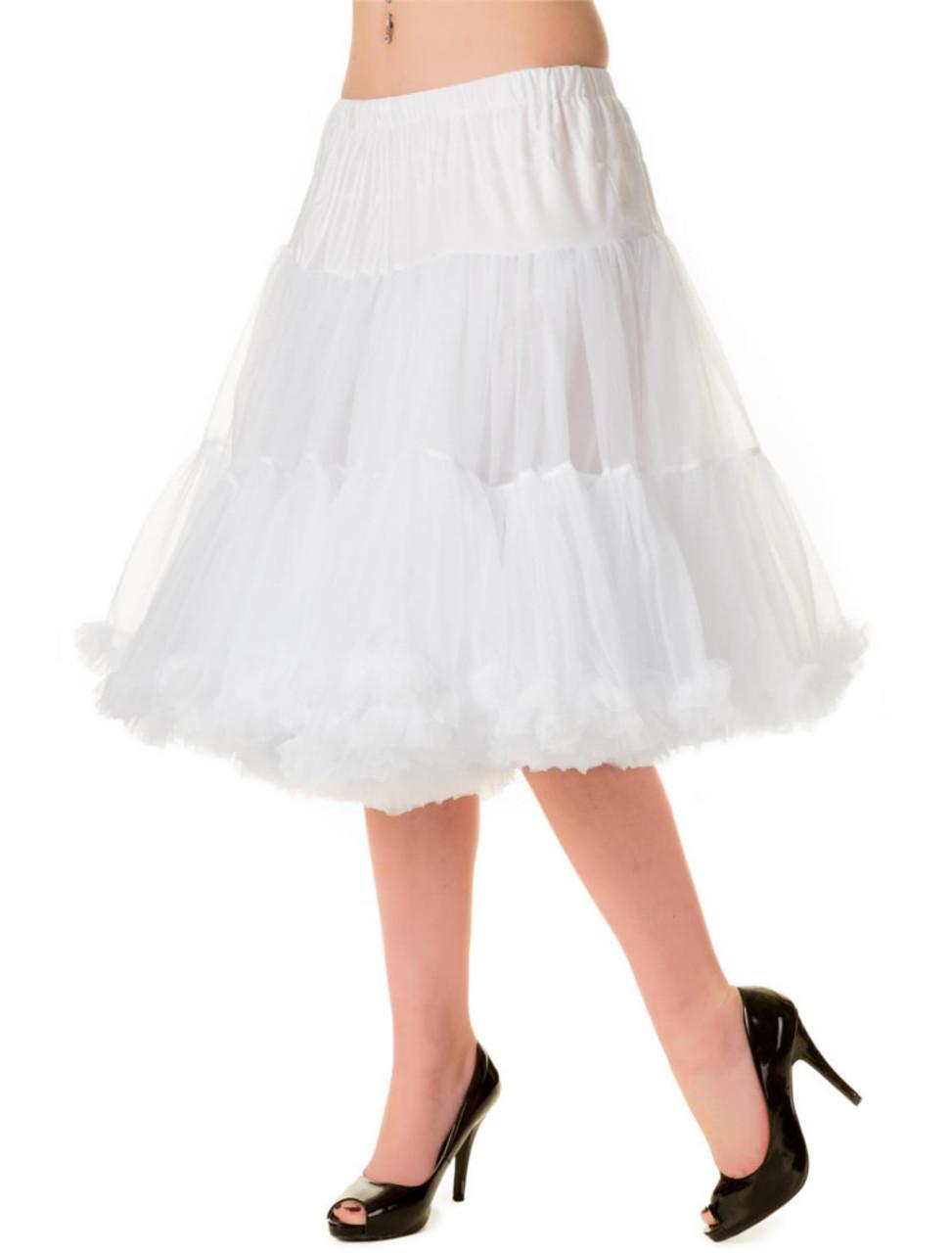 e13964972 Banned Starlite 23 Inch Petticoat, White - Suicide Glam Australia