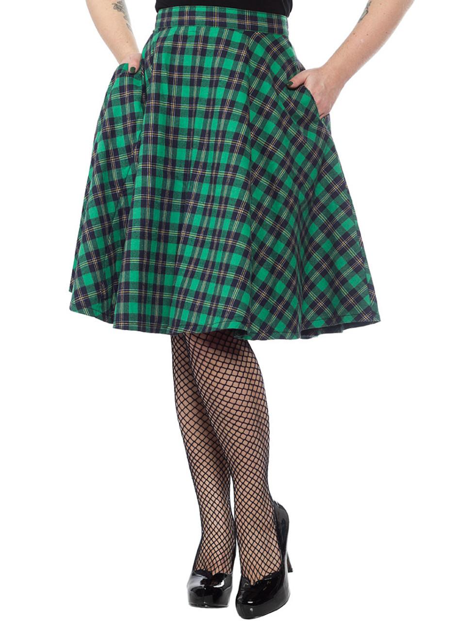 bbf61d7ae Sourpuss Bonnie Green Plaid Skirt - Suicide Glam Australia