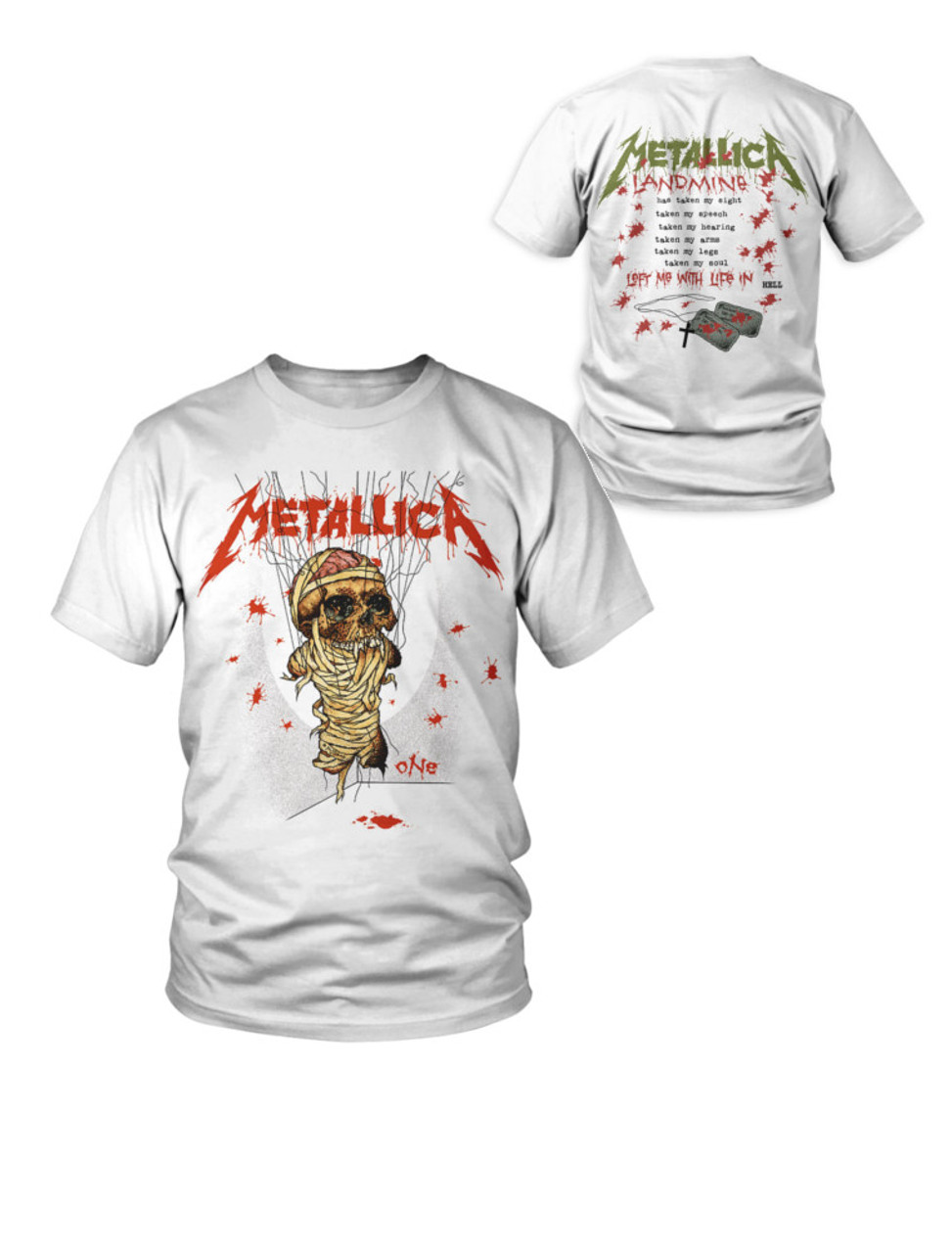 Official Metallica One Landmine Rock Band T-Shirt