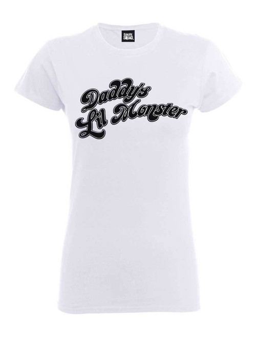 2b07e545 Suicide Squad White Daddy's Little Monster T-Shirt