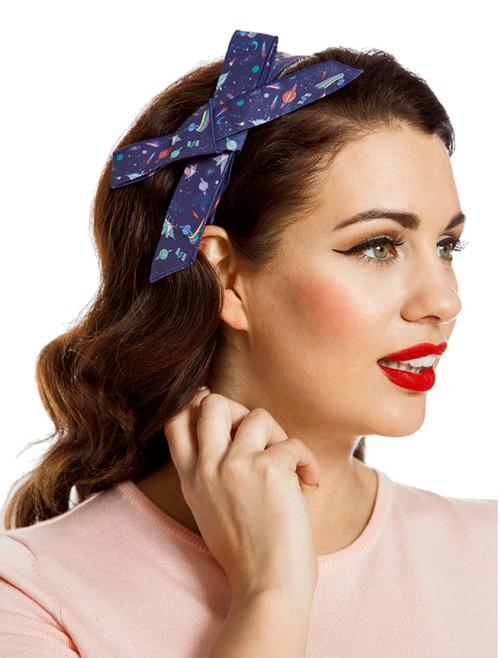 8227d4debfd6 Lindy Bop Space Unicorn Print Headband - Suicide Glam Australia