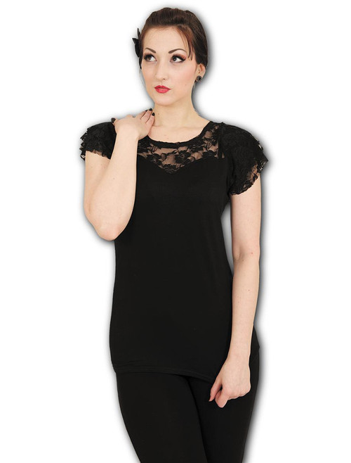 96367df6 Too Fast Bold Phase Of The Moon Babydoll T-Shirt Top - Suicide Glam ...