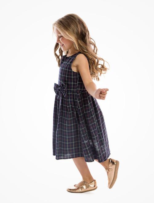d63e2768b ... Lindy Bop Mini Grace Children's Navy Check Print Swing Dress ...