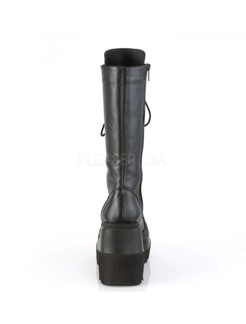 11118613944f8 Demonia Shaker Tall Dark Mid-Calf Boots - In Stock Now - Suicide ...