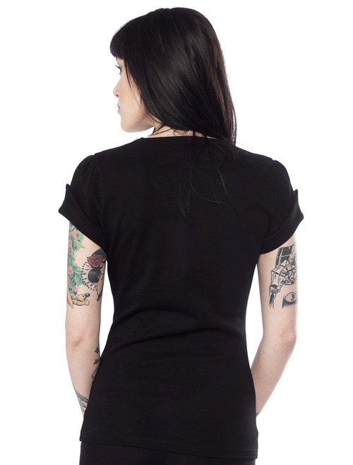1f2d8b70656998 Sourpuss Honey Top: Black - Suicide Glam Australia