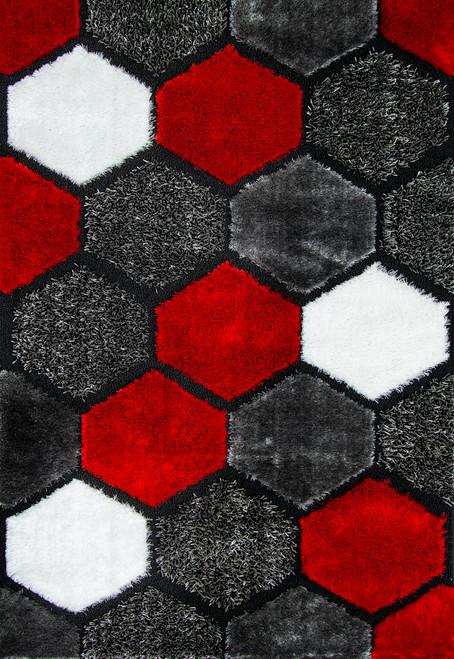 Butterfly Shag Area Rug - BS2462GY