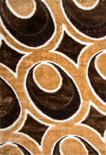 Butterfly Shag Area Rug - BS1344BN
