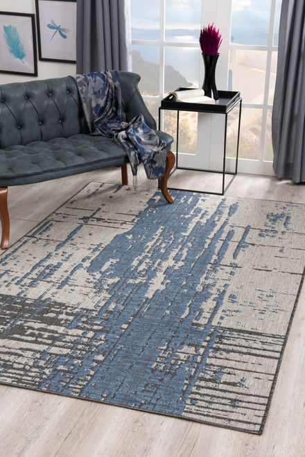Velit Indoor/Outdoor Rugs - VEL2084BL