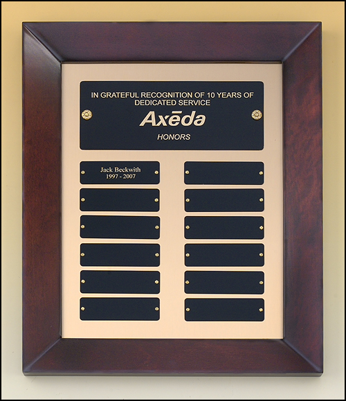Cherry Finish Frame Perpetual Plaque