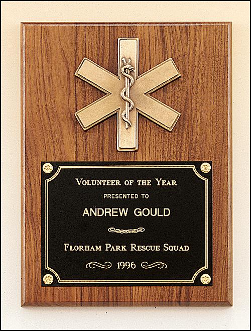 Walnut Plaque, Bronze EMT Casting