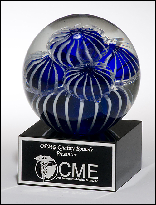 Art Glass Globe Anemone Award