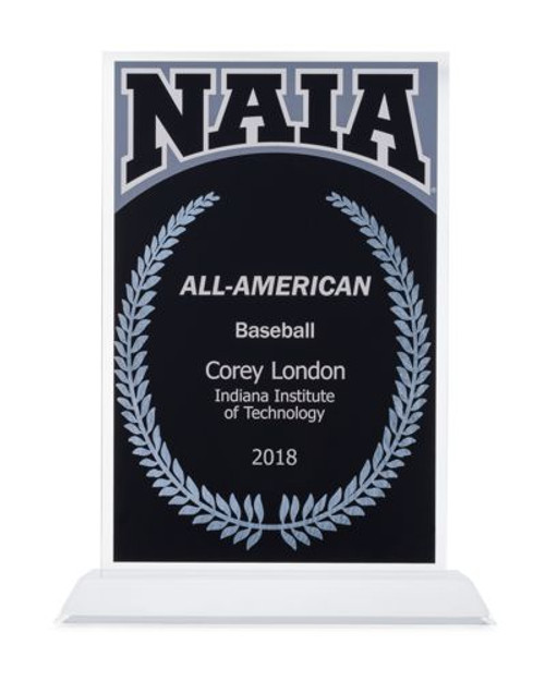NAIA All-American acrylic award