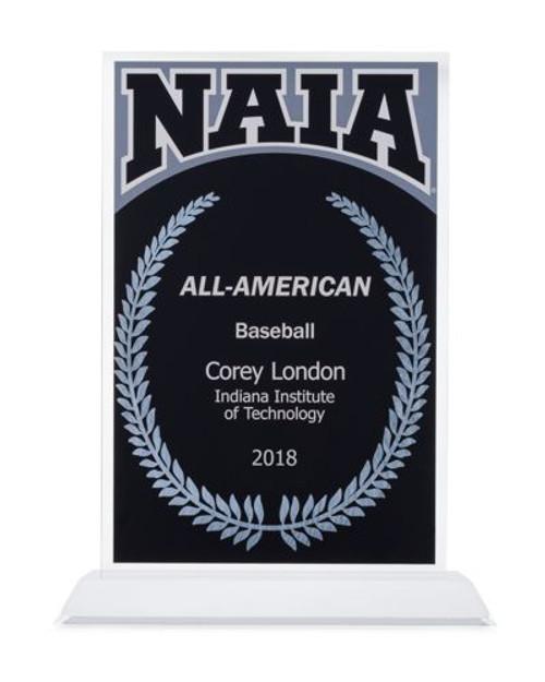 NAIA All-American acrylic award