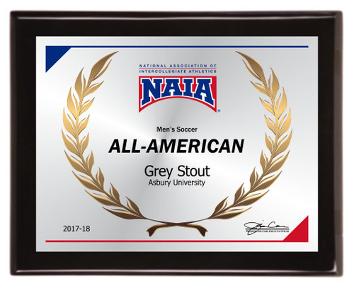 All-American piano finish plaque