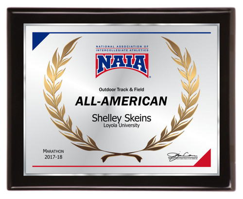 All-American piano finish plaque  - NAIA-AA1013