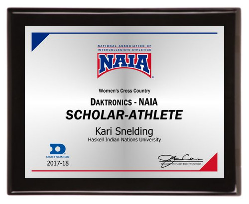 Scholar-Athlete plaque
