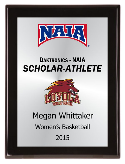 Scholar-Athlete plaque w/ school logo