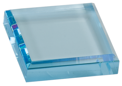 Blue Square Acrylic Paperweight