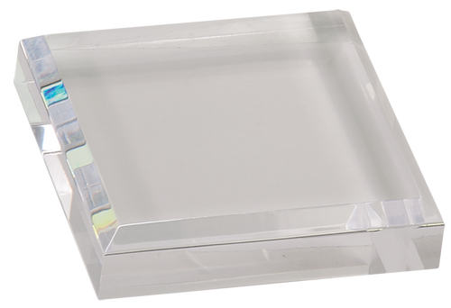 Clear Square Acrylic Paperweight