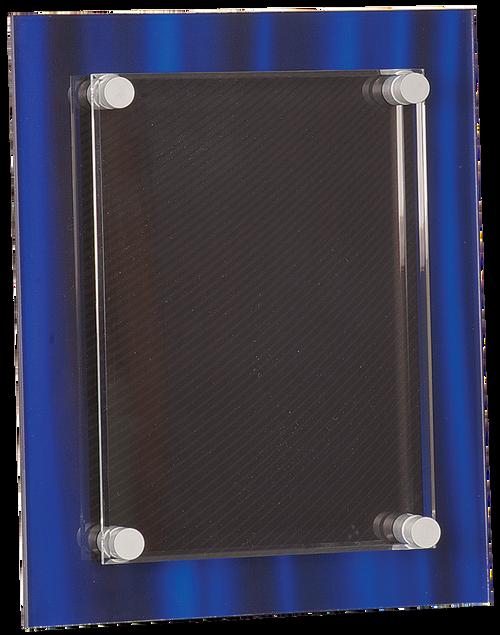 Blue Velvet Stand-Off Acrylic Plaque