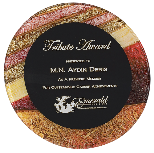 Autumn Harvest Round Acrylic Art Plaque