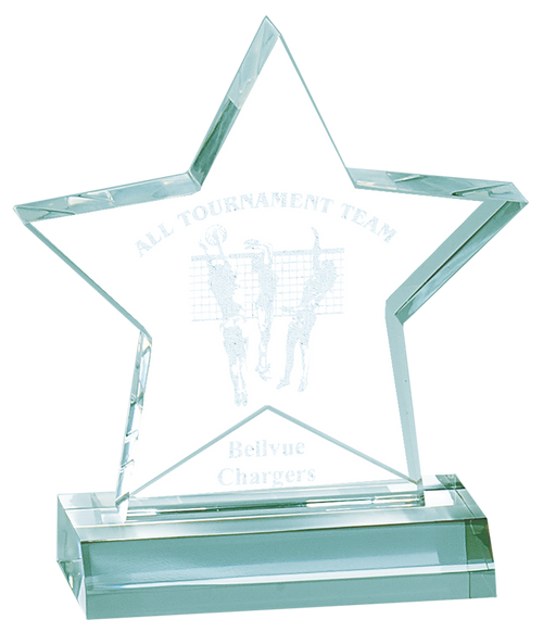 Jade Star Acrylic Award With Base