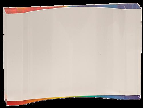 Rainbow Acrylic Crescent