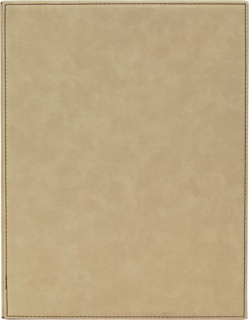 Light Brown Leatherette Plaque