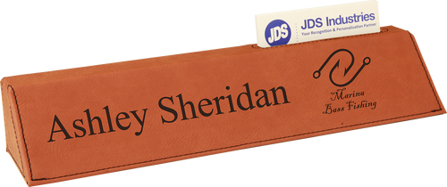 """Rawhide Leatherette Desk Wedge with Business Card Holder 10 1/2"""""""