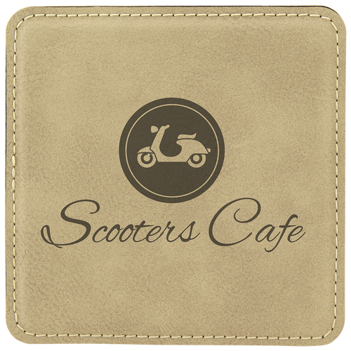 Square Leatherette Coaster