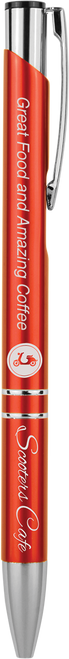 Gloss Ballpoint Pen with Silver Trim - JLP803