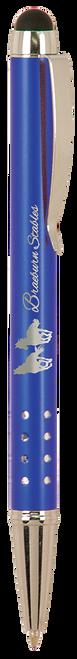 Gloss Ballpoint Pen with Stylus & Silver Trim - JLP832
