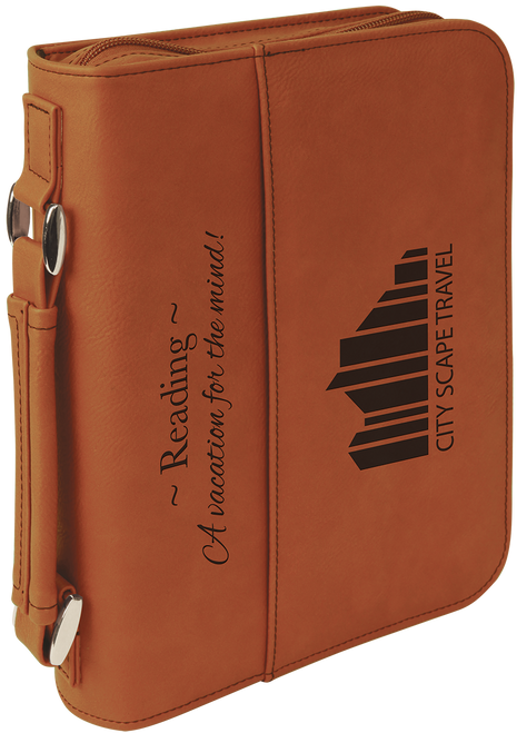 Leatherette Book/Bible Cover w/Zipper & Handle - JGFT288
