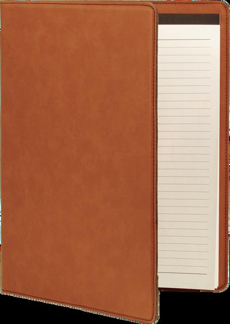 Large Leatherette Portfolio with Notepad - JGFT267