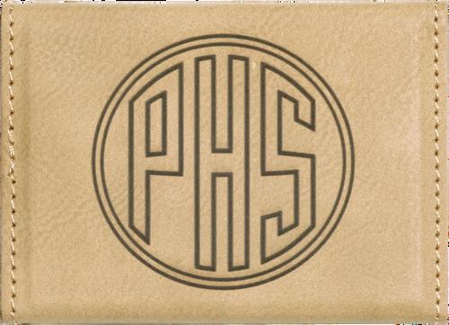 Leatherette Hard Business Card Holder