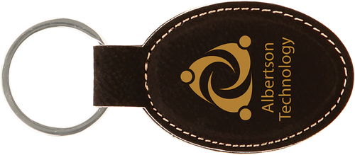 Leatherette Oval Keychain - JGFT241