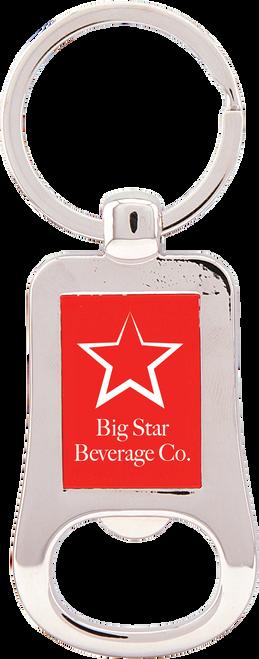 Silver Metal Bottle Opener Keychain - JGFT202