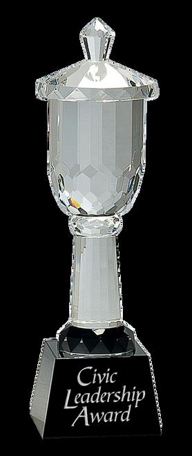 Crystal Cup on Black Pedestal Base
