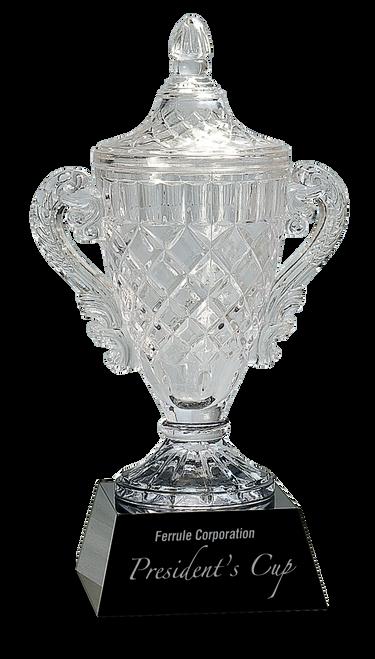 Crystal Cup on Black Pedestal Base - JCRY051L
